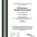 ISO-Zertifikat EB Electronic